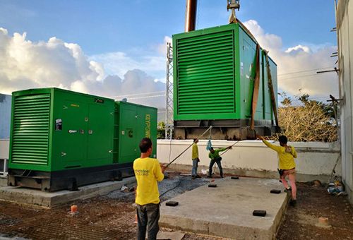 Two units of 500 kVA Cummins generators with synchronizing panels for Wanda Plaza in Manilla,the Philippines