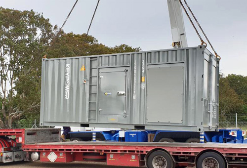 KEYPOWER 900kva Containerised Generator with Cummins Engine for Australian Wide Bay Water Project
